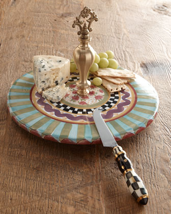 Odd Fellows Cheese Dish & Knife