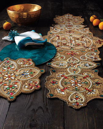 Capiz Shell & Beaded Table Linens