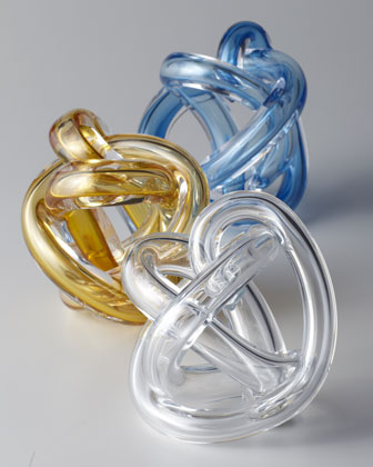 Glass Knot Sculpture