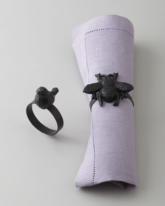 Bee & Bird Napkin Rings