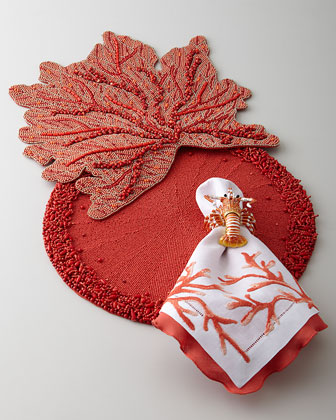 Coral Branch Placemats & Napkins