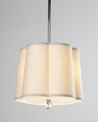 Scalloped-Shade Pendant Light