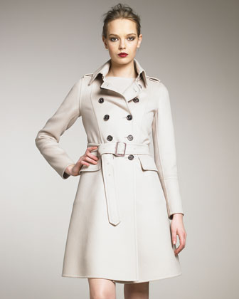 Double-Face Wool Trenchcoat