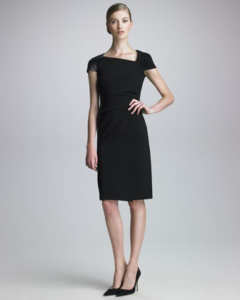 Asymmetric Techno Jersey Dress