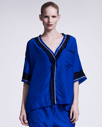 Silk Satin Pajama Top