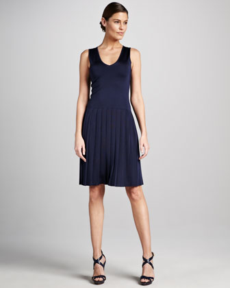 Sleeveless Dropped-Waist Dress