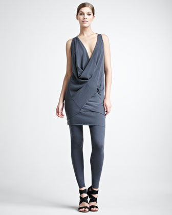 Stretch-Cashmere Tube Skirt, Geode