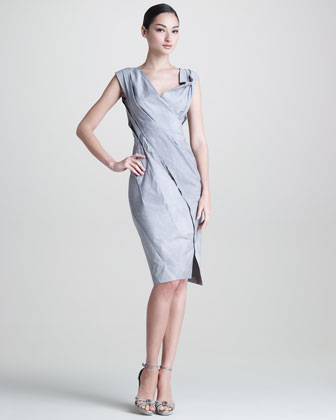 Mineral Paper Crushed Dress