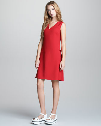 Sleeveless V Neck Dress