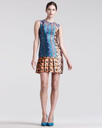 Mik Printed Silk Dress