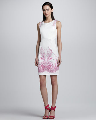 Phoebe-Print Sheath Dress
