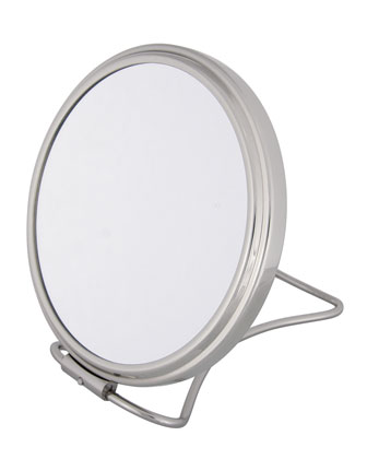 Chrome Stand Folding Double Sided Travel Mirror, 5.25
