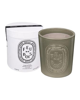 Ceramic Feu de Bois Scented Candle