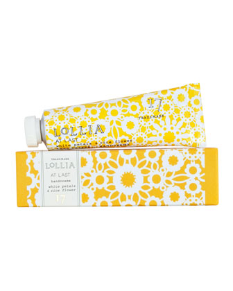 At Last White Petals & Rice Flower Petite Handcreme