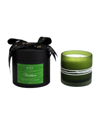 Verdure Botanic Candle in Thin-Striped Artisan Vessel