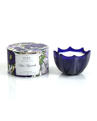 Blue Hyacinth Scalloped Three-Wick Candle, 15oz