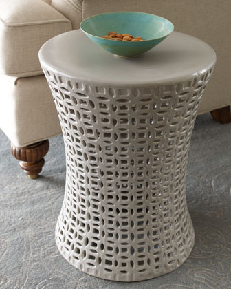Gray Basketweave Garden Seat