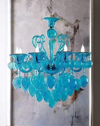 Modern Glamour Eight-Light Chandelier
