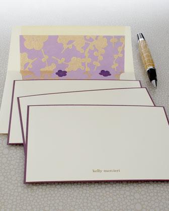 Eight Violet Cards & Envelopes