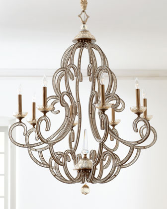 Beaded Elegance Chandelier