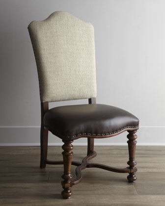 Two Agatha Upholstered Side Chairs