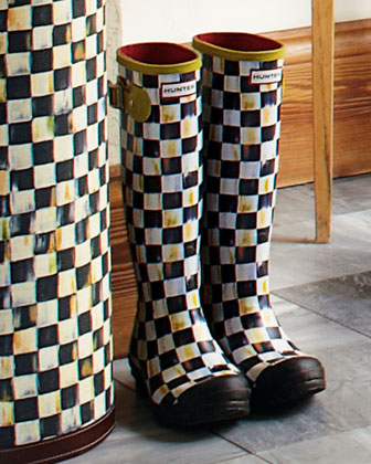 Courtly Check Hunter Boots