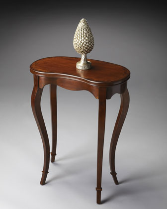 Kidney-Shaped Accent Table