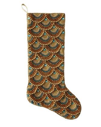 Golden Christmas Stockings