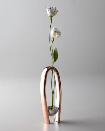 Classic Copper Cozy Bud Vase