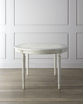 Rubbed-White Dining Furniture