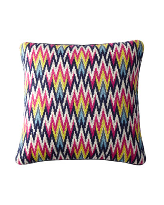 Hand-Embroidered Bargello Pillows