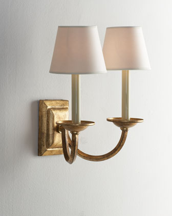 Double-Arm Flemish Sconce