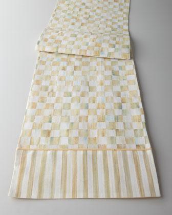 Parchment Check Table Linens