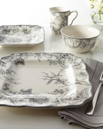 16-Piece Adelaide Gray Dinnerware Service