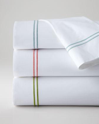 King New Resort 200TC Satin-Stitched Flat Sheet