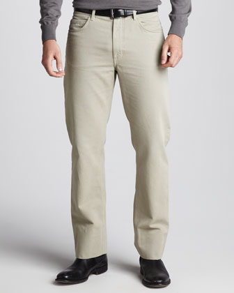 Basic-Fit Pants, Dark Mastic