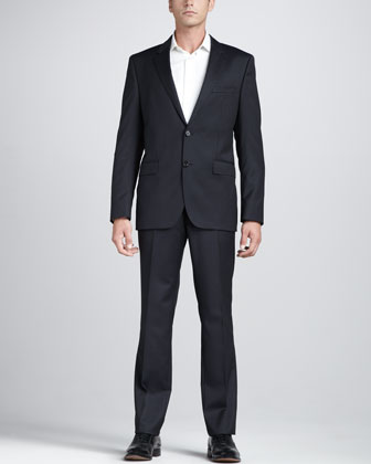 Check Suit, Navy