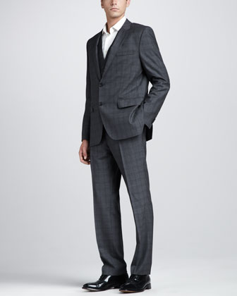 Three-Piece Plaid Suit