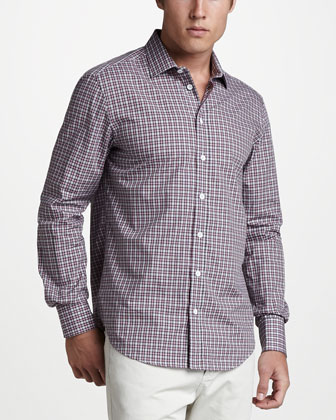 Charles Plaid Sport Shirt