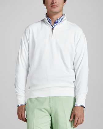 Interlock Quarter-Zip Sweater, White