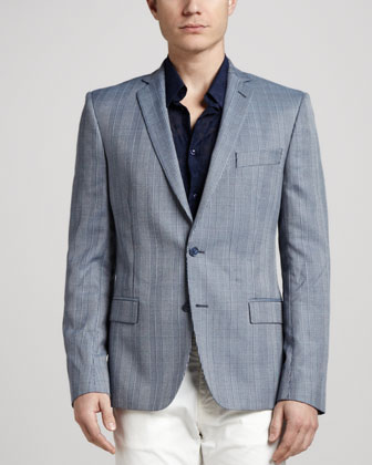 Trend-Fit Glen Plaid Blazer