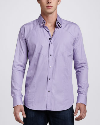 Dries Mosaic Sport Shirt, Purple