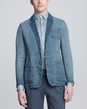 Burlap Patch-Pocket Blazer