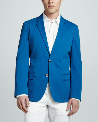 Washed Cotton Sport Coat