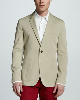 Cotton Blazer, Khaki
