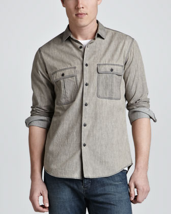Tarren Bleached Two-Pocket Shirt
