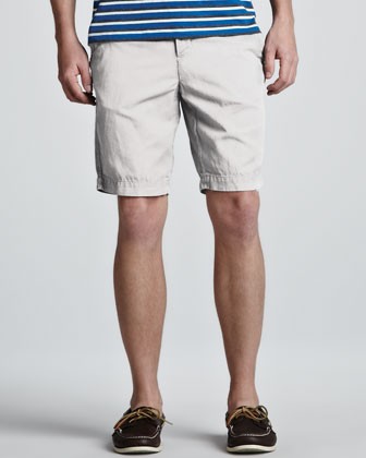 Cotton-Linen Shorts, White