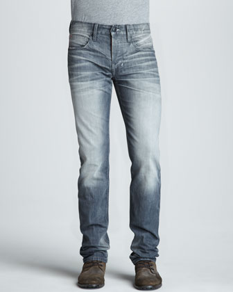 Brixton Selvedge Slim-Fit Jeans, Gray