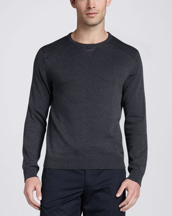 Crewneck Sweatshirt & Flat-Front Taper-Fit Pants