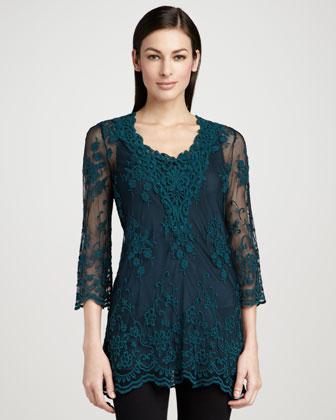 Maidenfair Mesh Embroidered Tunic